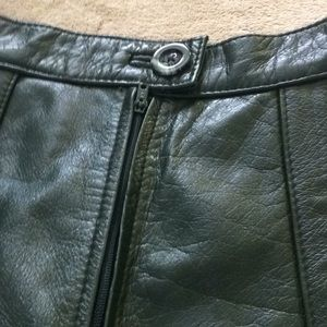 montgomery ward Skirts - Vintage Montgomery Ward Heavy Leather Skirt